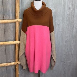 Free People Candy Pop Oversized Sweater L NWT